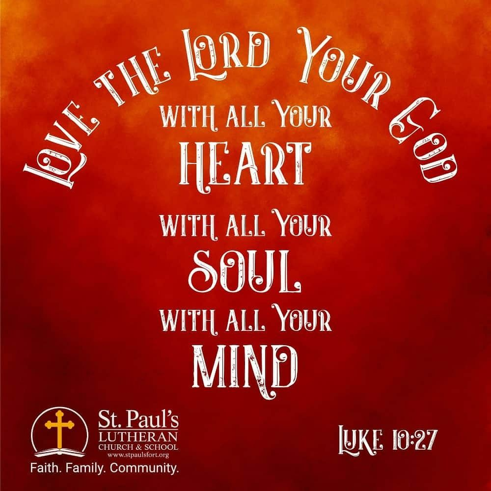 """No matter where you live, get to know your neighbors. God wants us to befriend our neighbors and share His love with them.  He answered, """"'Love the Lord your God with all your heart and with all your soul and with all your strength and with all your mind'; and, 'Love your neighbor as yourself.'  — Luke 10:27  #stpaulsfort #faithfamilycommunity #community #loveyourneighbor #FortAtkinson #community #WELS #WELSLutheran"""