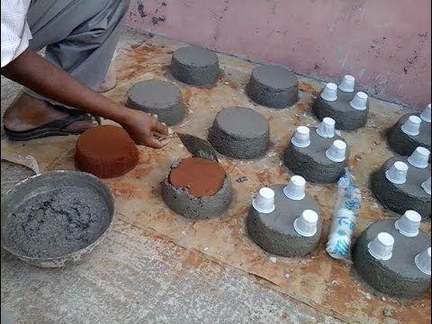 C mo hacer el molde y la olla de rbol concreto - Moldes para piedras artificiales ...