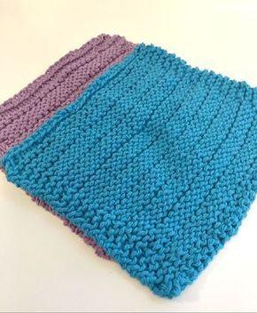 Dishcloth Knitting Pattern: Easy Stripes   Dishcloth ...