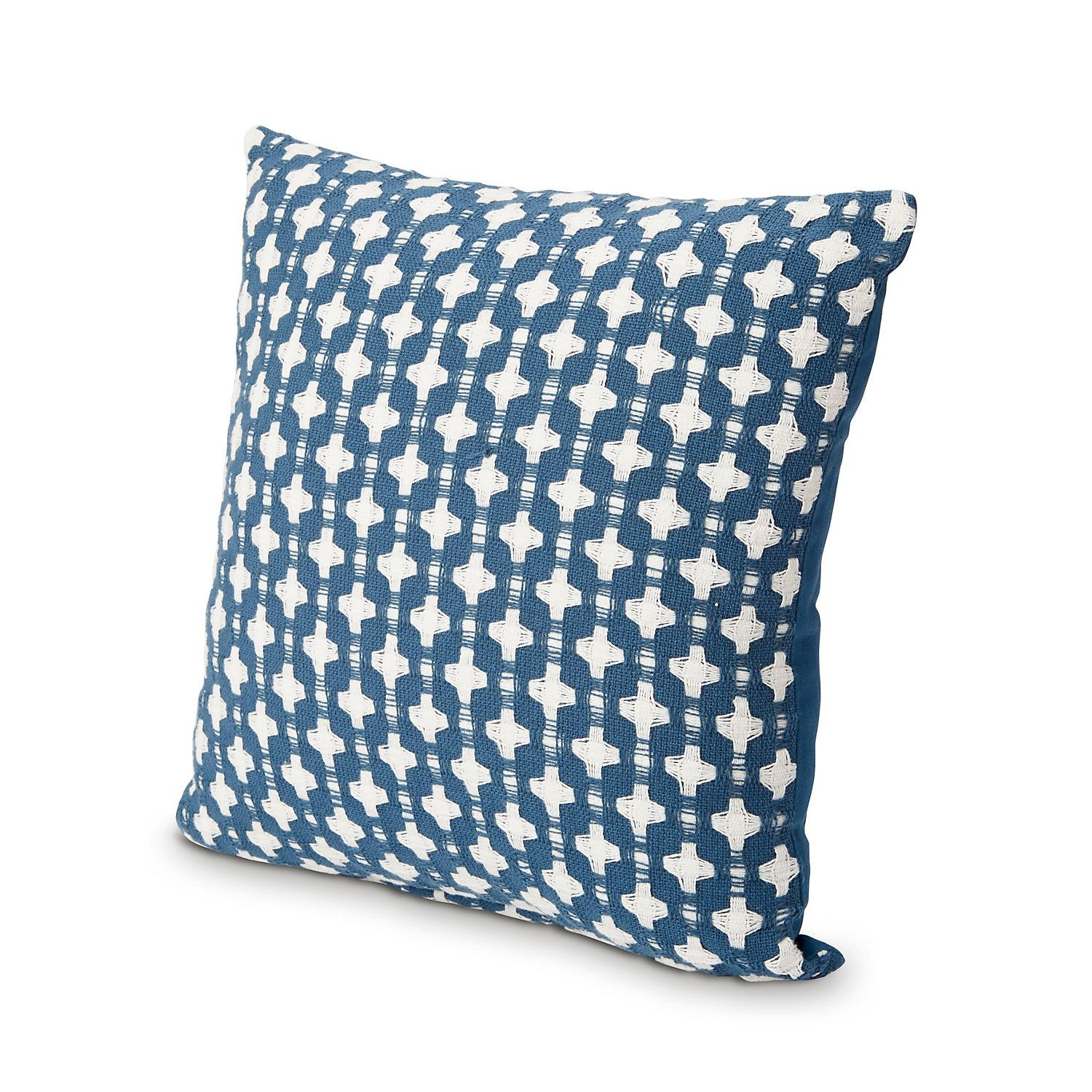 Cross Moroccan Blue Cushion