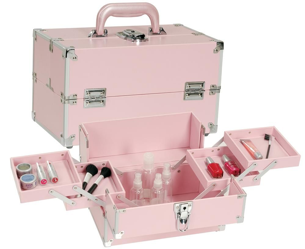 Pink Makeup Train Case, only $49.95 plus free shipping! | Pro ...