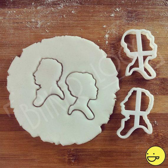 Pride and Prejudice geïnspireerd cookies kotters | klassieke koekjes scharen, jane austen roman, Elizabeth Bennet en mijnheer Darcy Engelse romantiek