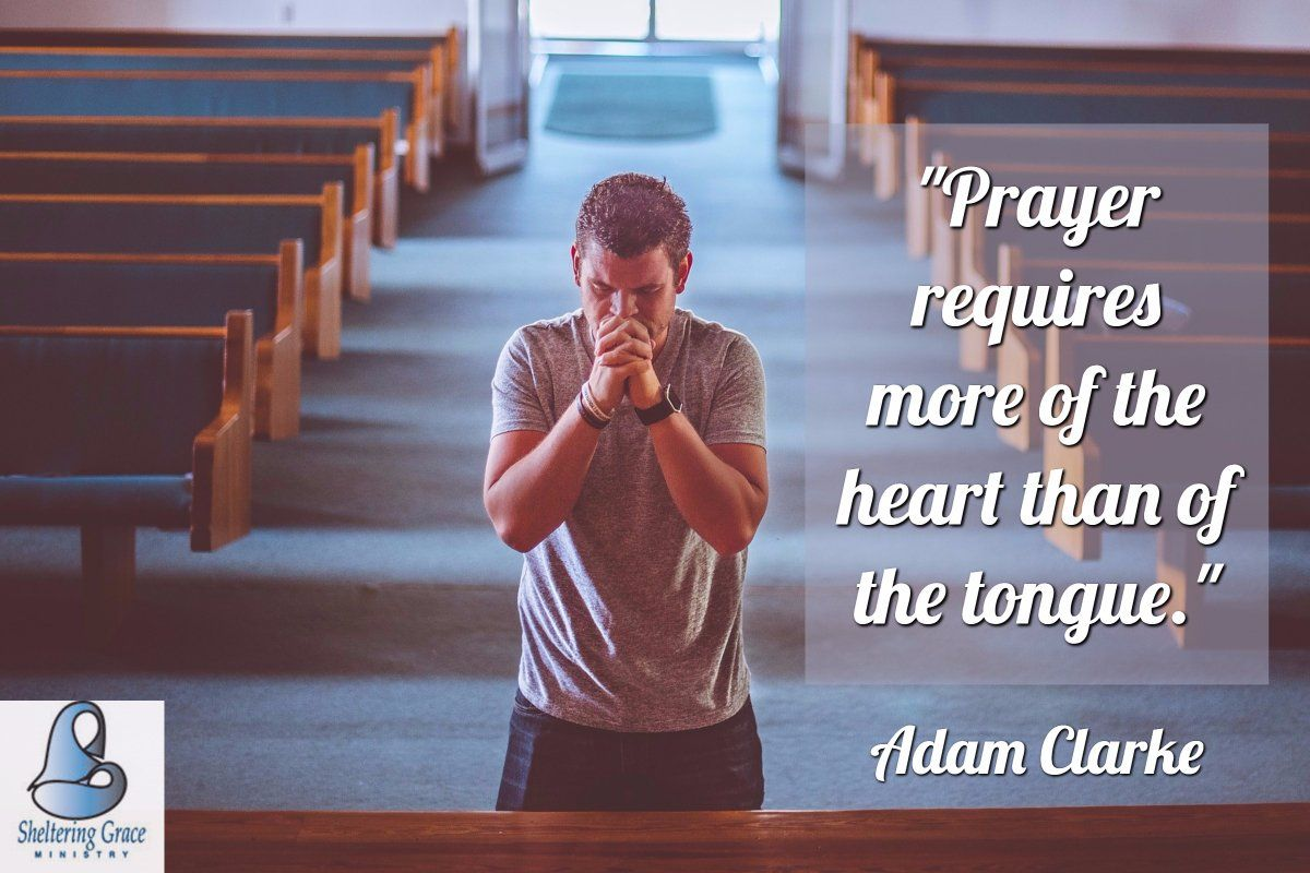 """""""#Prayer requires more of the heart than of the tongue."""" - Adam Clarke #quotes"""