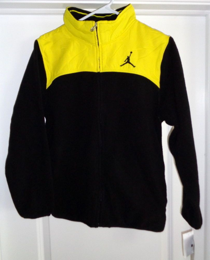 0842294cab3f5b NEW AIR JORDAN FLEECE JACKET YOUTH LARGE 12-13 yrs   NWT 75.00   YELLOW TOP   fashion  clothing  shoes  accessories  kidsclothingshoesaccs   unisexclothing ...