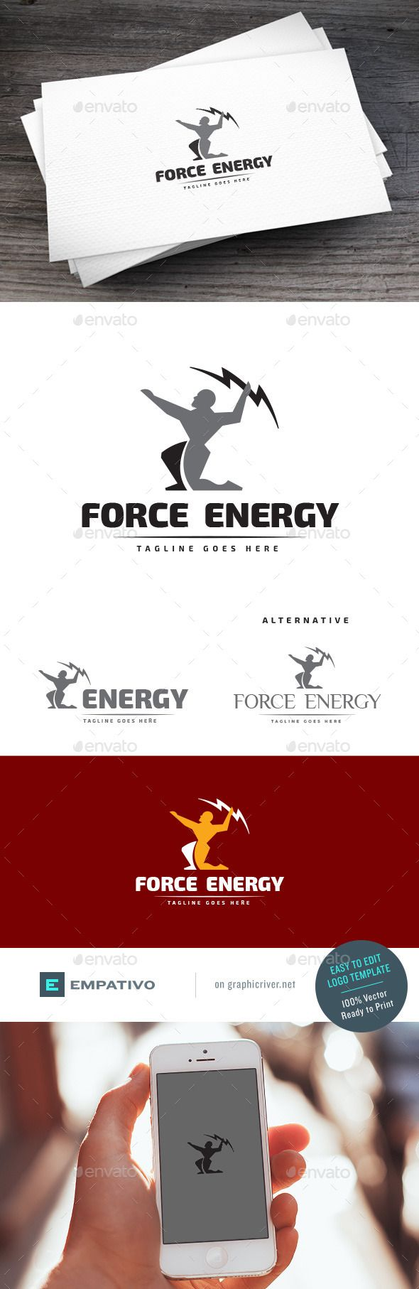 Force Energy Logo Template — Vector EPS #fitness center #shop • Available here → https://graphicriver.net/item/force-energy-logo-template/11119105?ref=pxcr