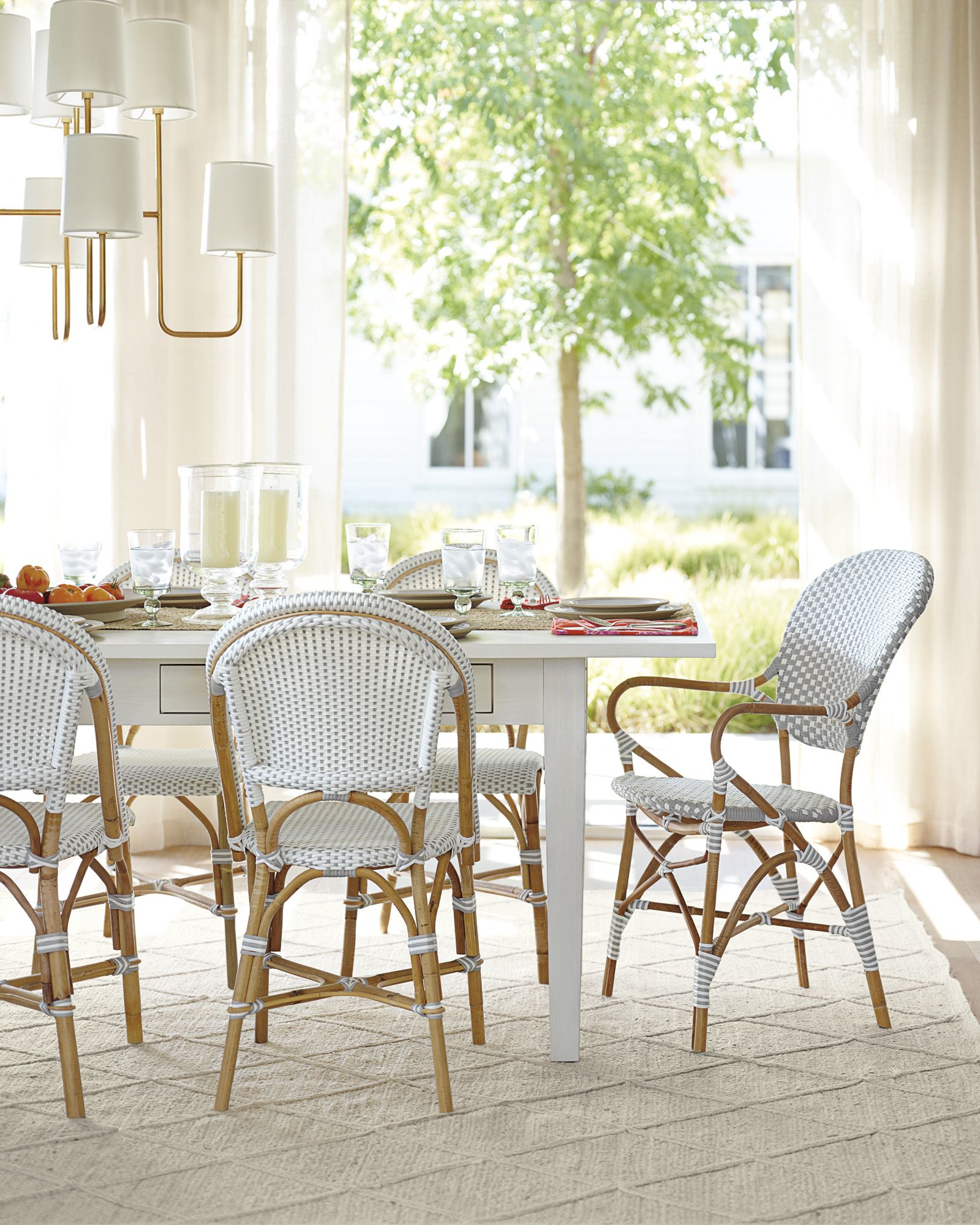 Newbury Dining Table Riviera Chairs Via Serena Lily Cottage