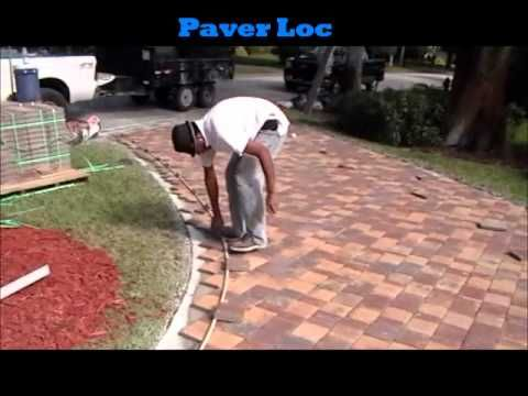 How To Lay 1 Pavers Over Existing Concrete Curious If This Holds Up In Areas With Freezing Temps Concrete Driveways Patio Upgrade Deck Remodel