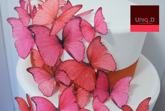 new BUY 53 get 5 FREE edible butterflies on sale   by uniqdots, $47.00