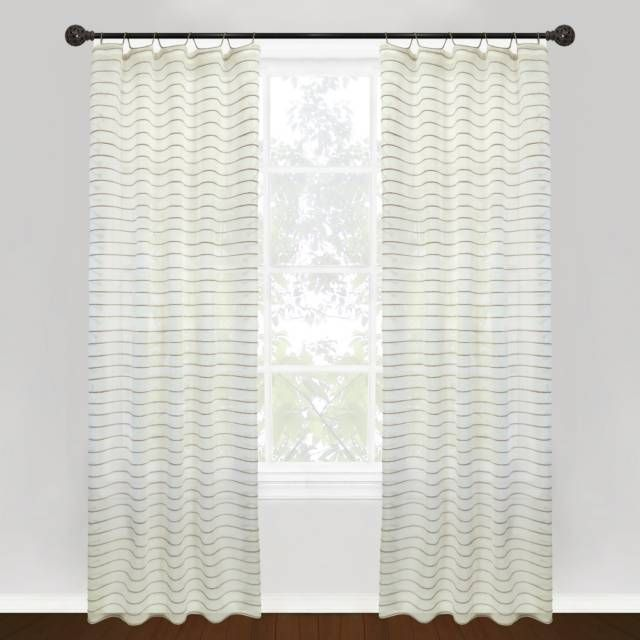 Product Image For Park B Smith Vintage House Jordan Serpentine Tab Top Window Curtain Panels