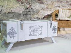 Xxl Truhe Shabby Chic Couchtisch Vintage Loftstyle Von Dream Holz