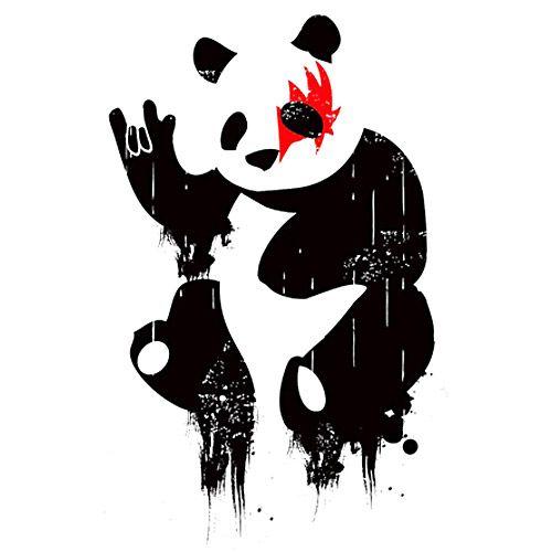 Panda Rock | Panda art, Art, Panda drawing