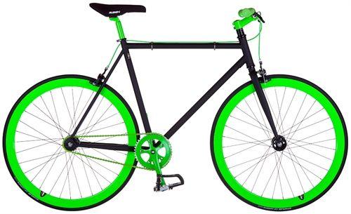 Falkon Eagle - Sort/Neon Grøn <BR>- 2015 Fixie cykel TILBUD