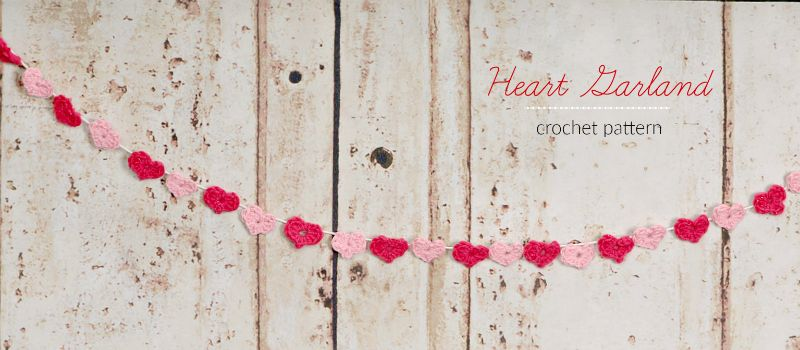 Valentine\'s Day heart garland free crochet pattern (with picture ...