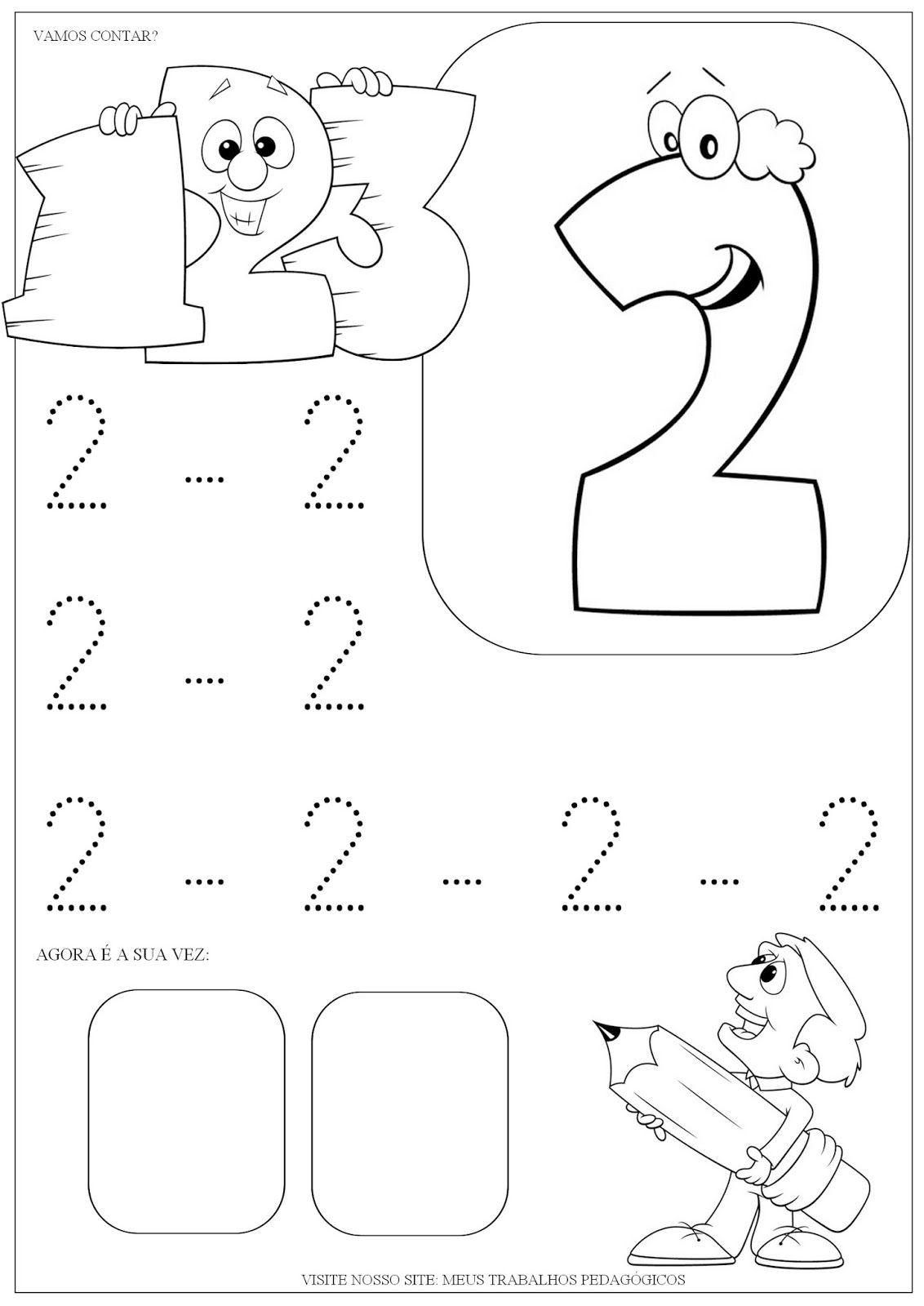 Atividades Numeros De 1 A 3 Atividades Atividade Alfabeto