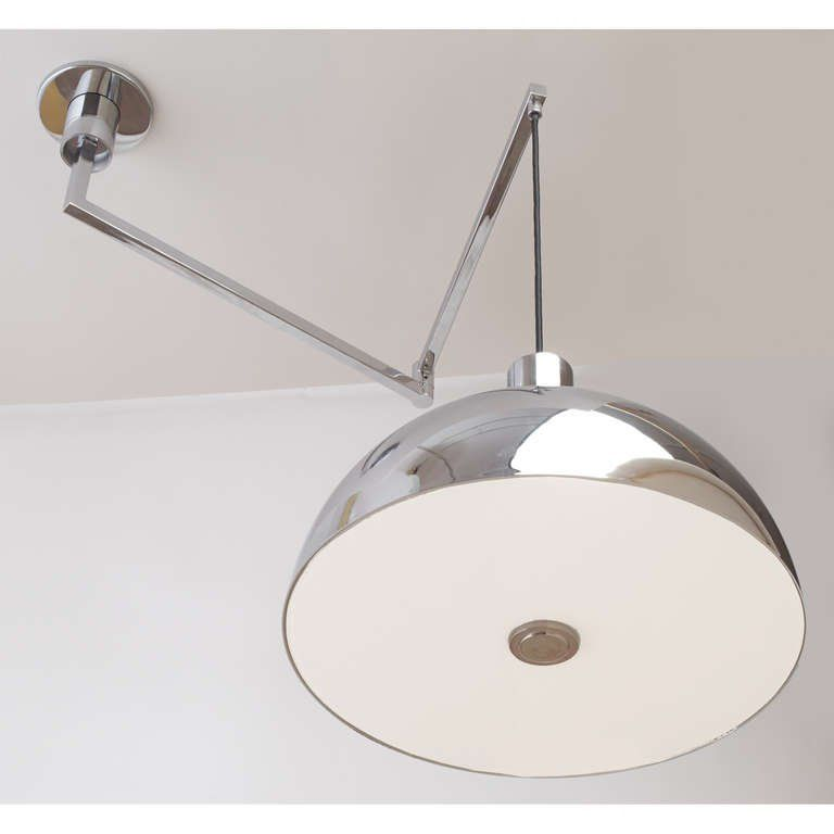 Modernist Swing Arm Ceiling Light By Franco Albini 3