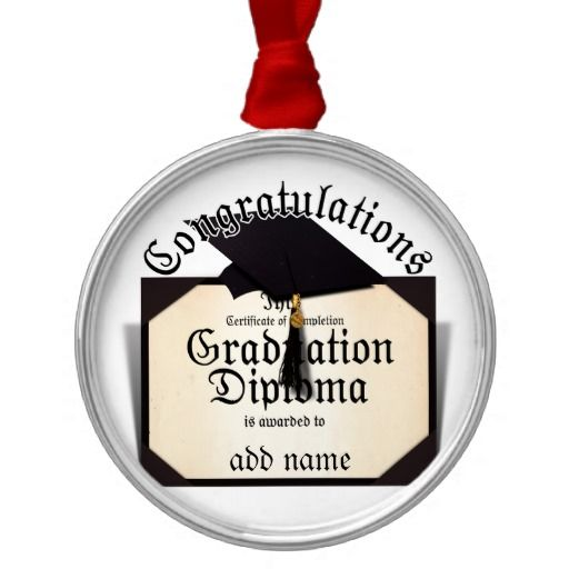 Congratulations Certificate Of Completion Diploma Metal Ornament