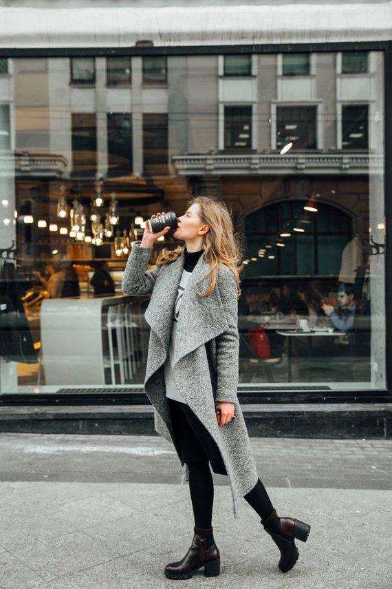 2a5a75d5581 Black melange Freedom winter coat in 2018
