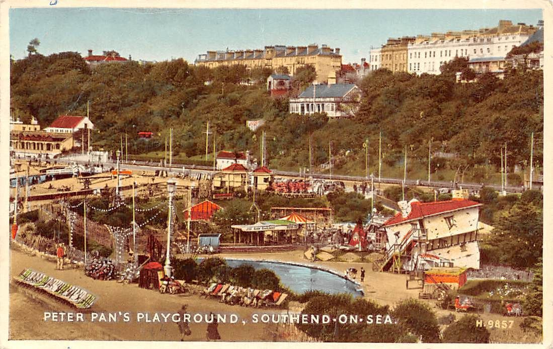 Southend On Sea Peter Pan 39 S Playground Amusement Park Swimming Pool 1956 Ebay Southend On