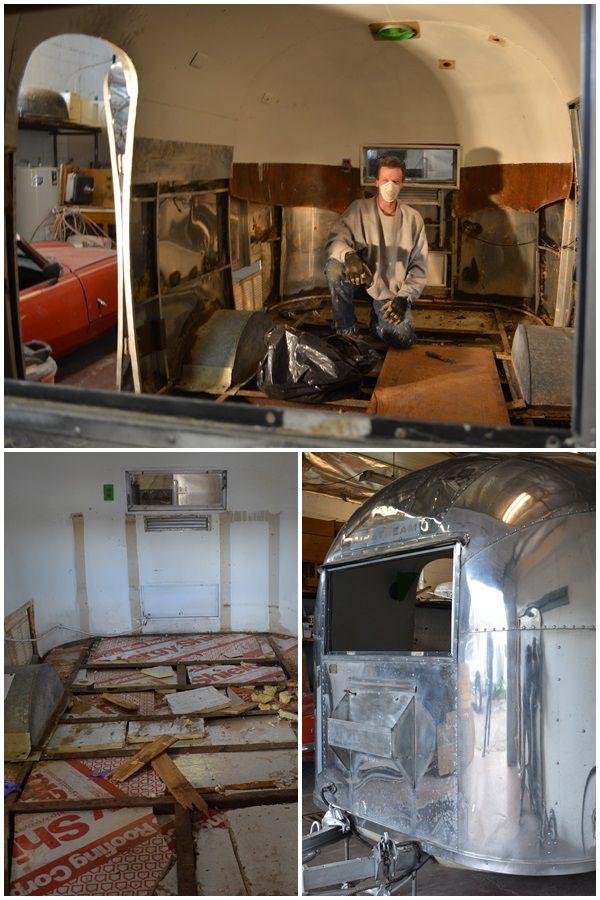 Bambi Floor Installation by CAMPER REPARADISE: Vintage trailer restoration  in Salt Lake City, UT.