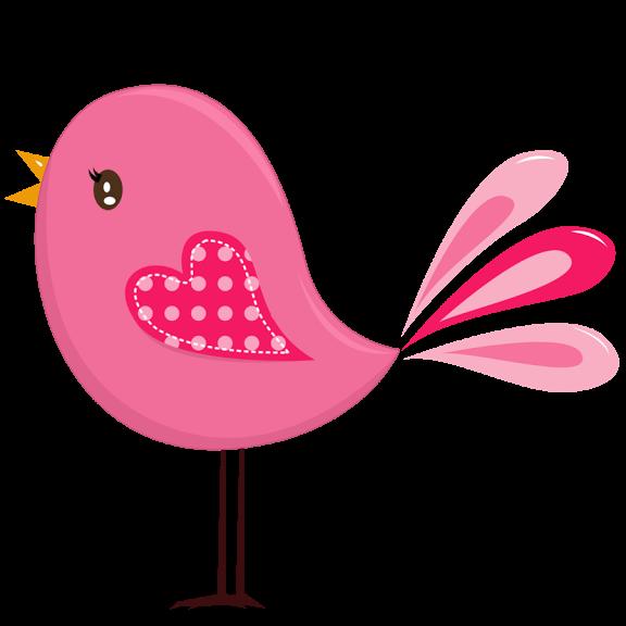 Birds pink. Bird clipart rock