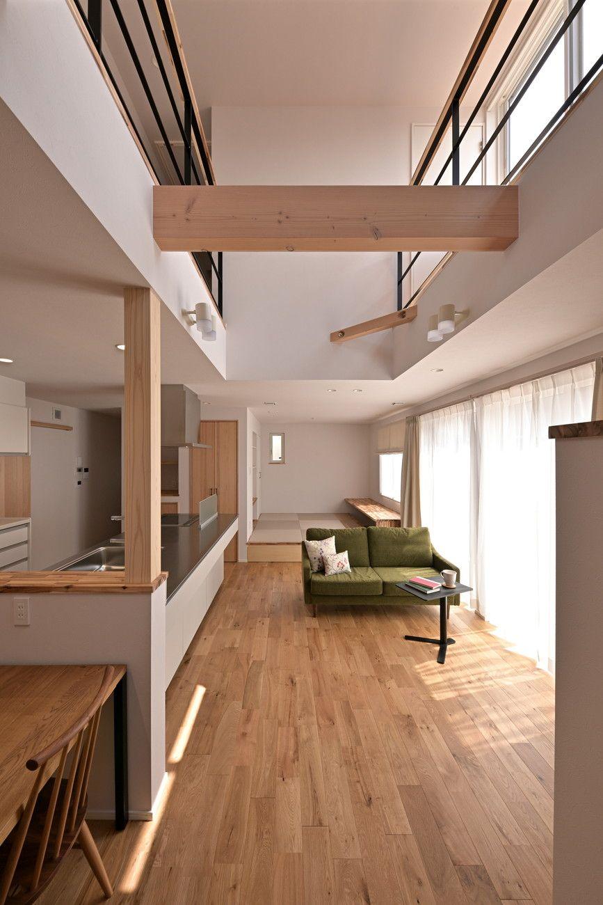 東近江市 佐野の家3 家 美しいキッチン リビング