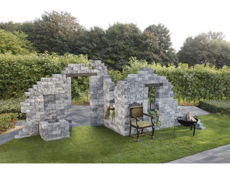 Ruine Lidl ! Gartenstruktur, Ruinenmauer, Gartenmauern