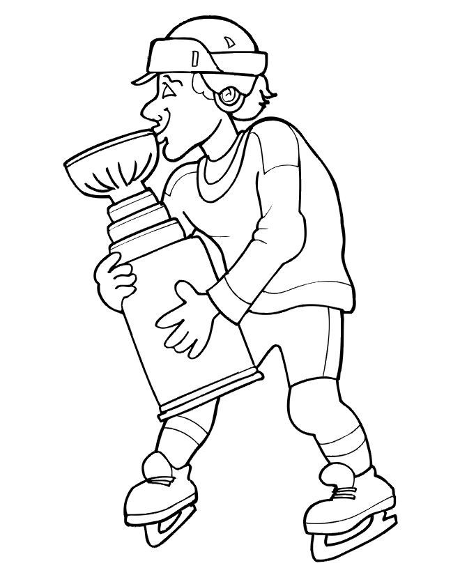 Chicago Blackhawks Coloring Pages Sports Coloring Pages