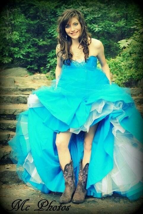 blue dress with cowboy boots   Dresses  blue dress with...