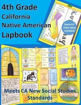 4th Grade California Native American Tribe Lapbook Resources For
