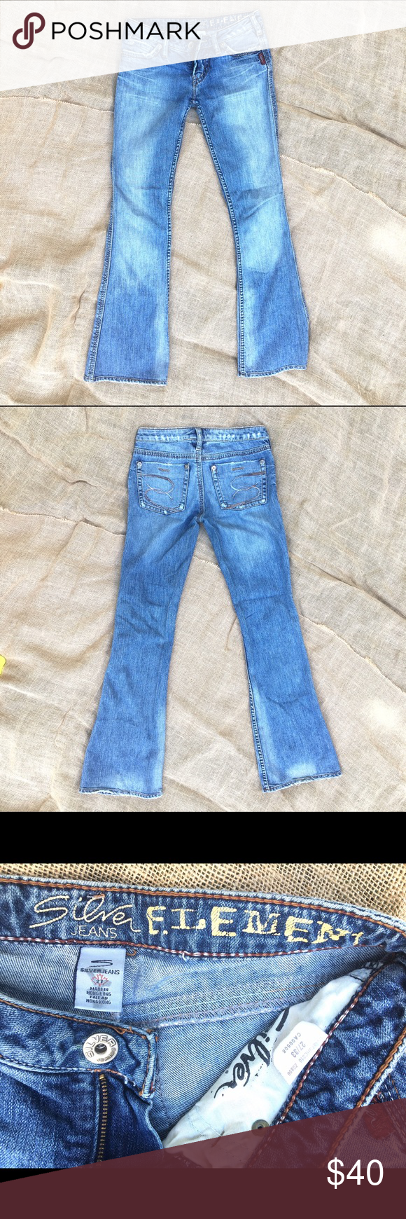 "Super cute, comfy, stylish Silver Jeans! Size 27! Fab Silver jeans in size 27 x 33""! Styles great with anything in your closet! Great condition! Silver Jeans Jeans Boot Cut"