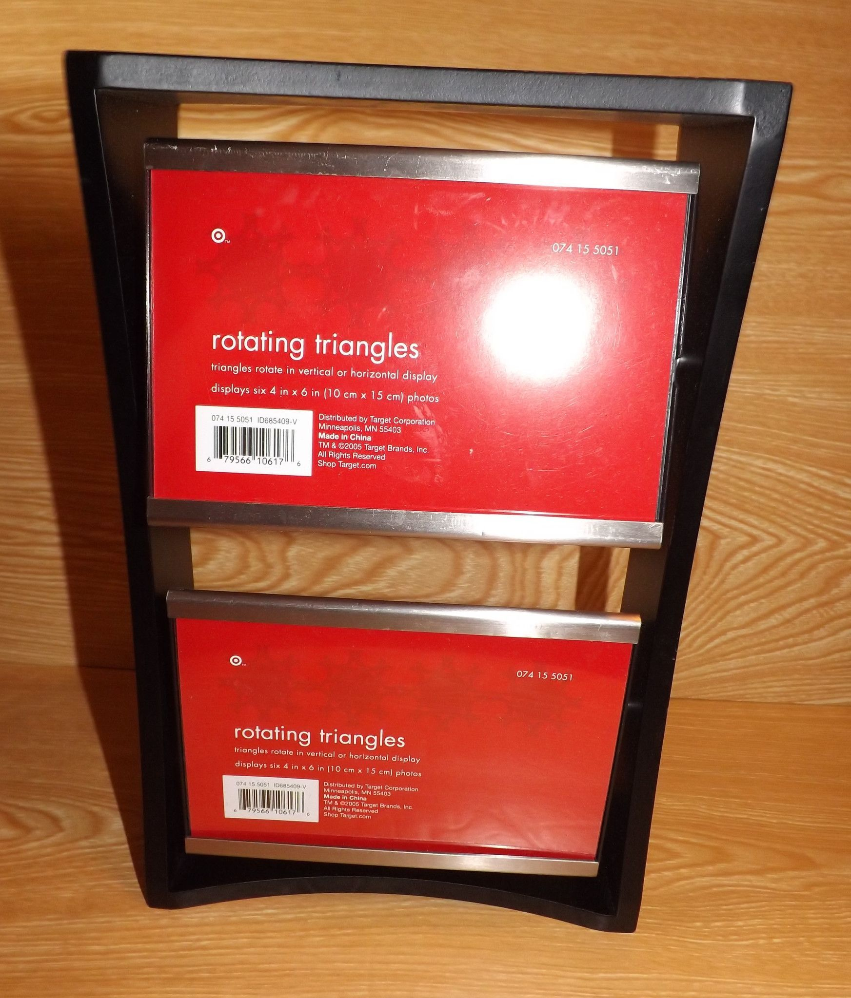 Target Store Rotating Triangles Picture Frame - Displays six 4in x ...