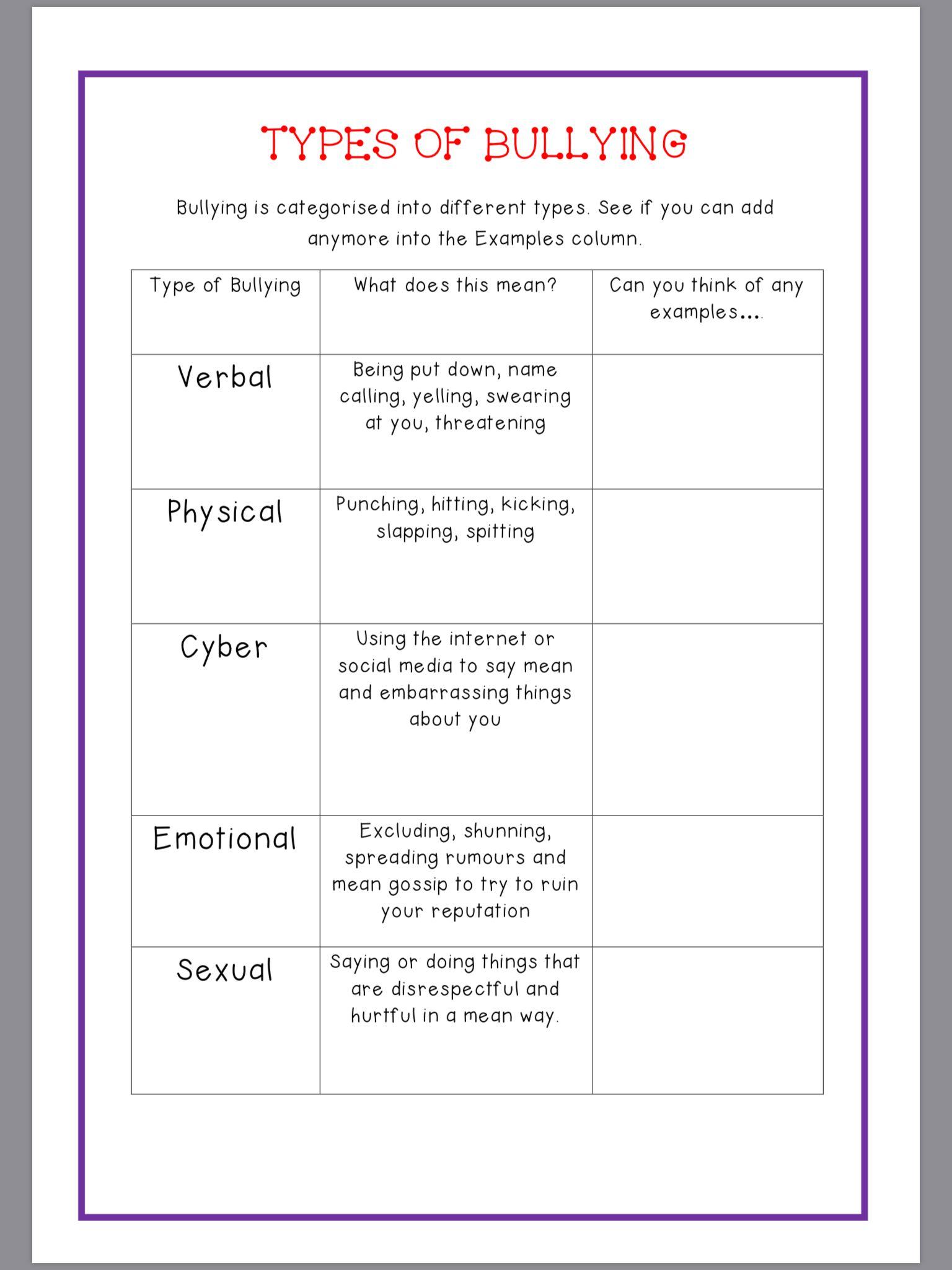 My Anti Bullying Workbook
