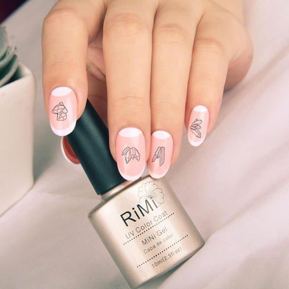 Crystal Gemstone Waterslide Nail Decals: tattoo crystal shard nail ...