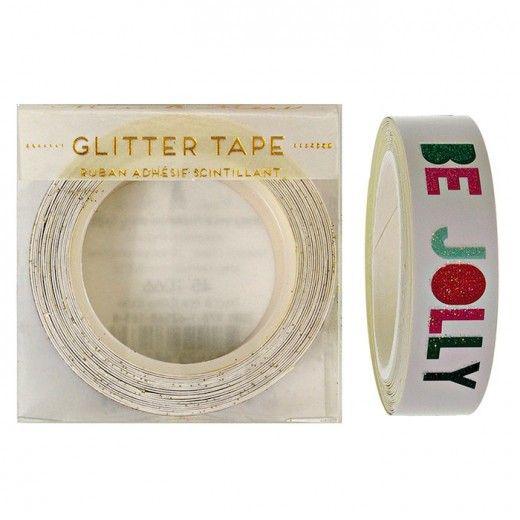 Be Jolly Ho Ho Ho Glitter Wrapping Tape