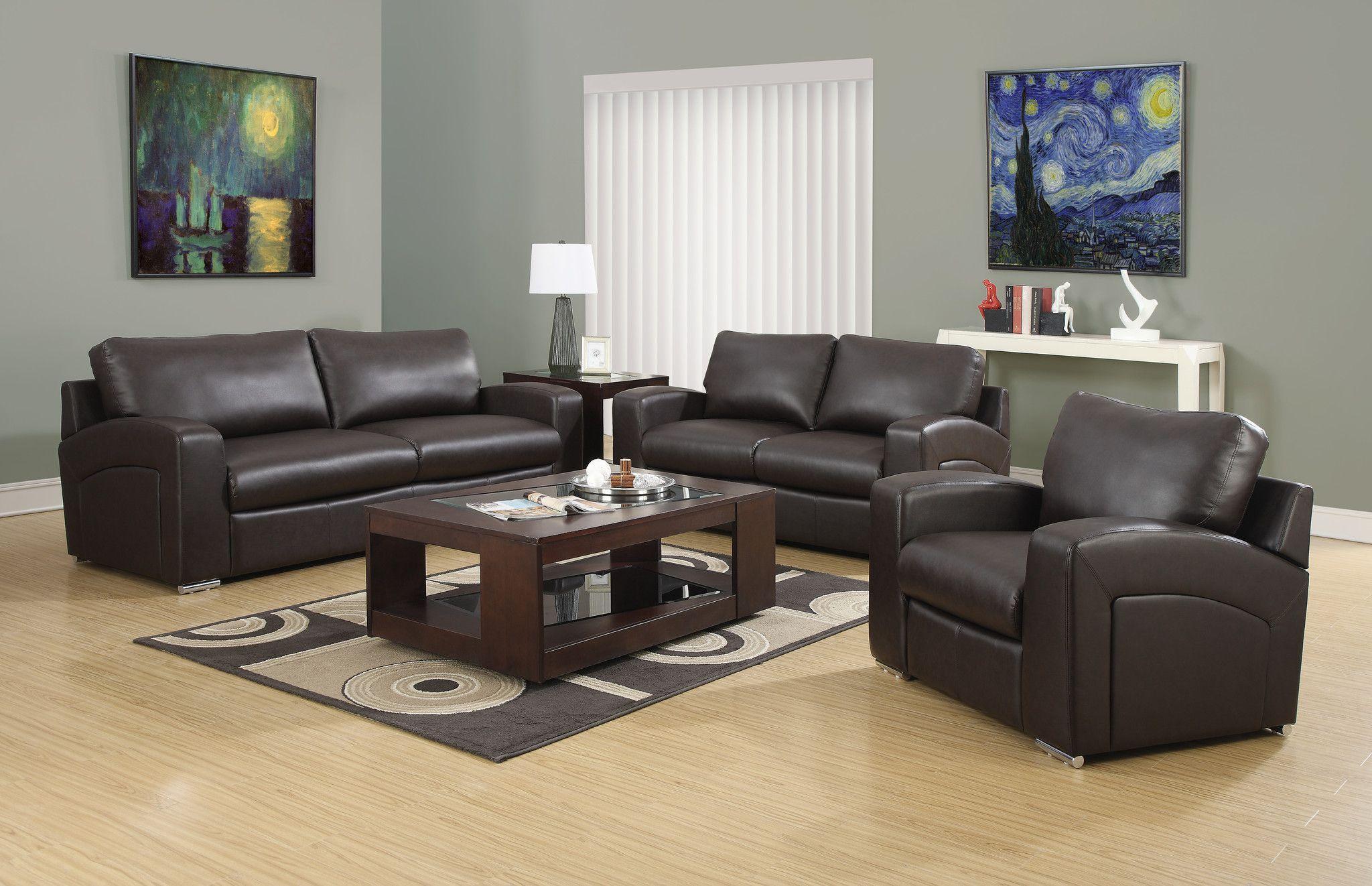 Lieblich Sofa   Dark Brown Bonded Leather Dunkelbraune Sofas, Wohnzimmereinrichtung,  Wohnzimmer Stühle, Eßzimmerstühle,