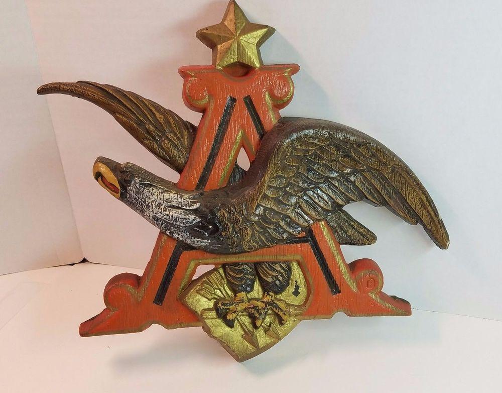 Vtg Anheuser Busch Budweiser Symbol Logo Eagle Sign