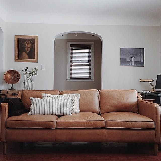 Hamilton Leather Sofa 81 Brown Couch Living Room Leather