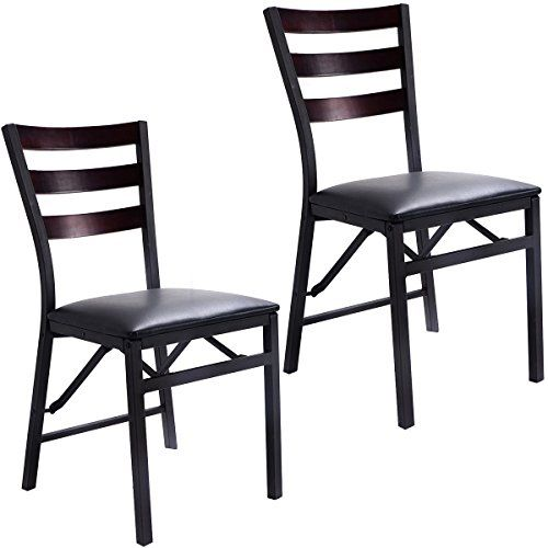 Giantex Set of 2 Wood Folding Chair Dining Chairs Home Restaurant Furniture Portable 156 X 177 X 335 * More info could be found at the image url.Note:It is affiliate link to Amazon.