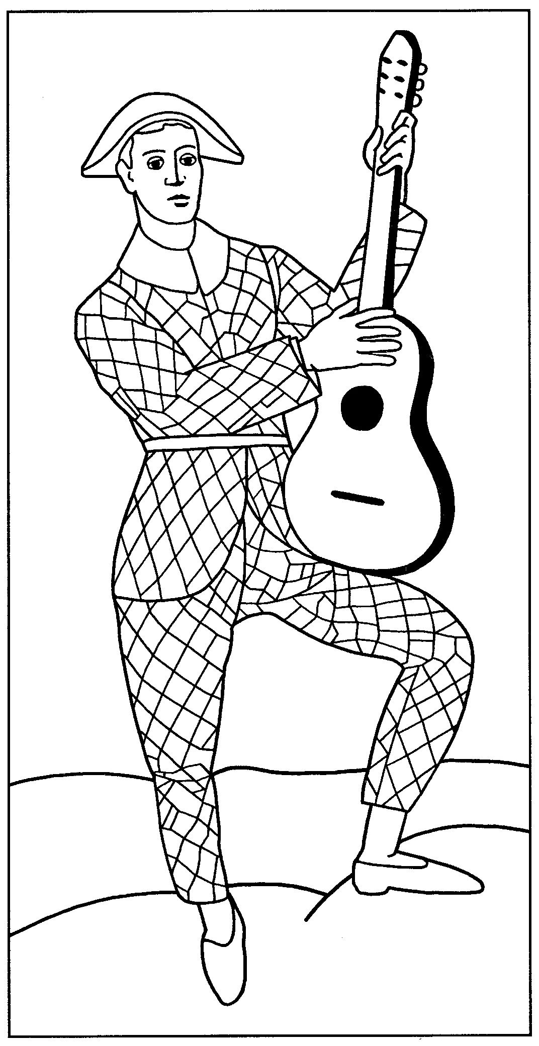 Coloriage Paul En Arlequin.Arlequin A La Guitare Andre Derain Para Pintar Arte Cuadros