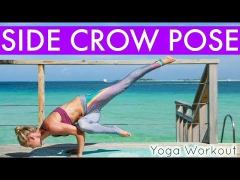home yoga workout  side crow pose  rebecca louise