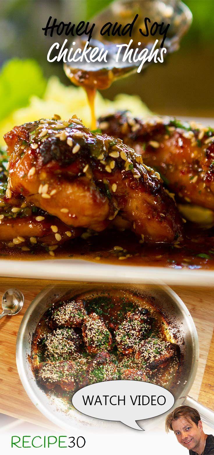 Honey And Soy Chicken Thighs East Chicken Recipes Chicken Dinner Recipes Recipes