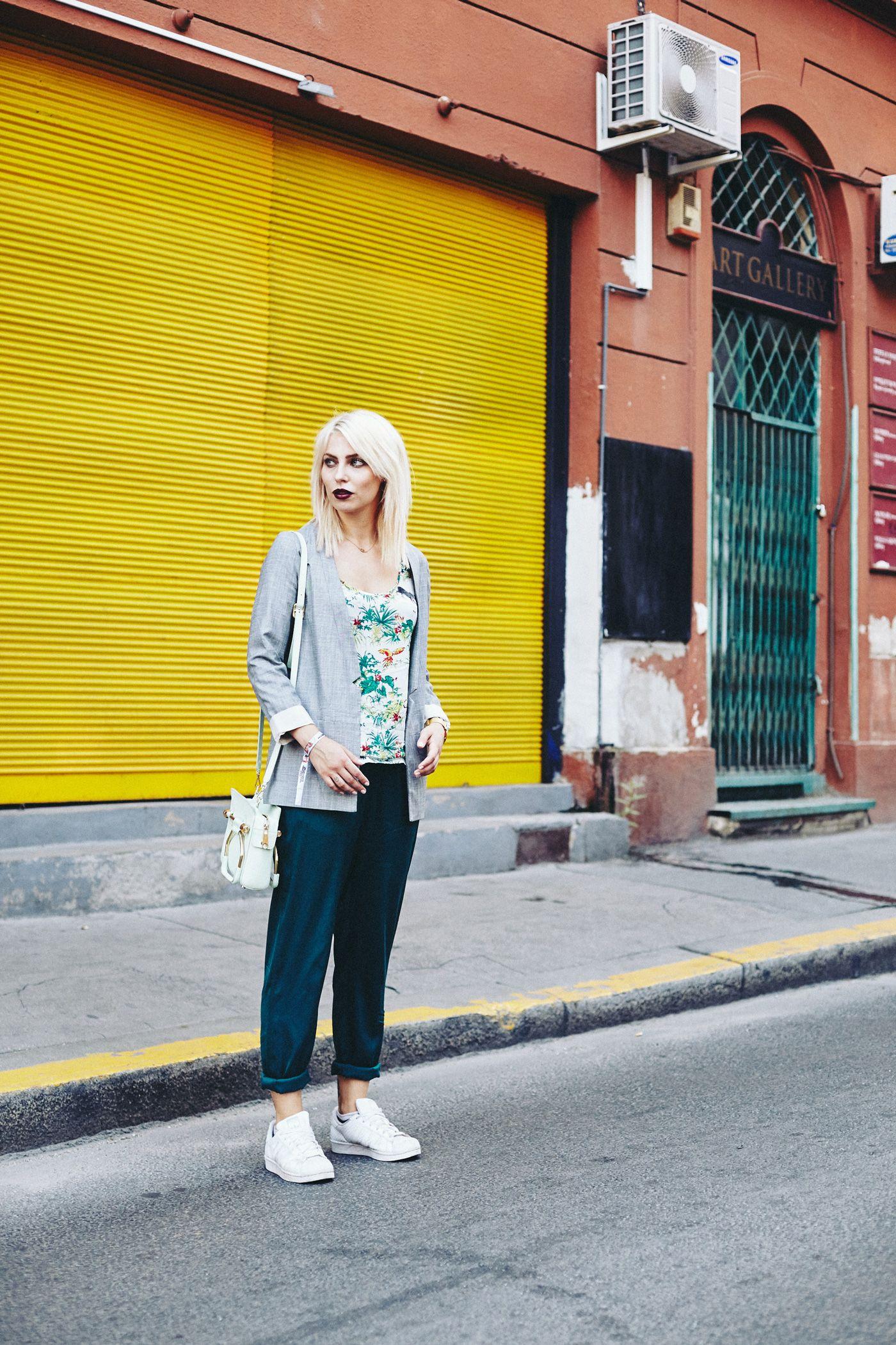Colorful Fashion | Street Style from Budapest | via Masha Sedgwick