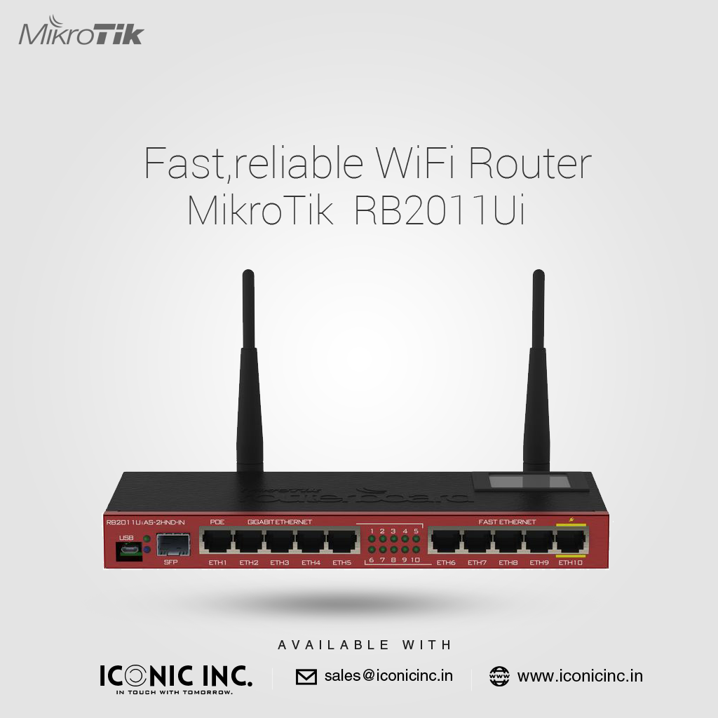 Fast,reliable WiFi Router Mikrotik RB2011Ui now available