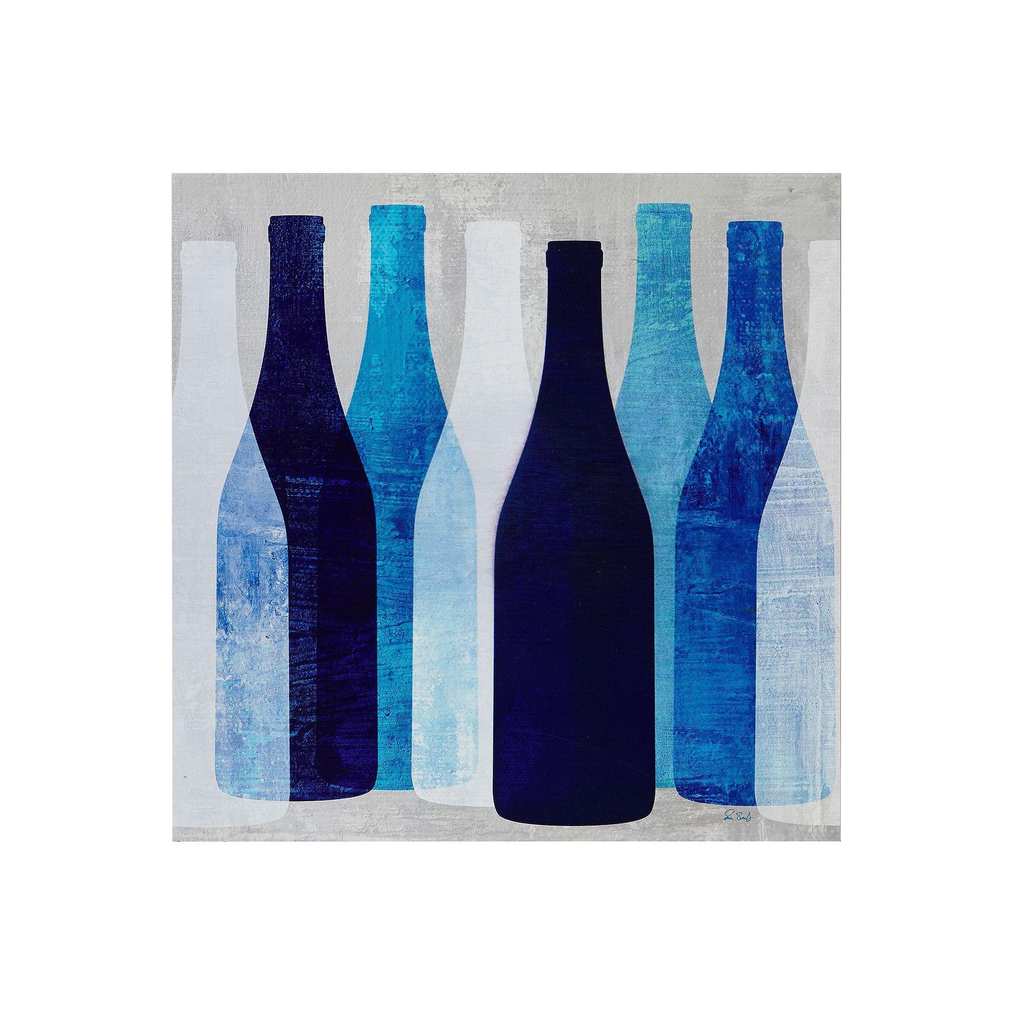 Ink + Ivy Pop Bottles Wall Art, Blue   Pop bottles and Bottle wall