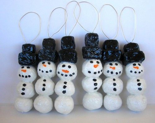 christmas decorations recycled materials | Recycled paper snowman ...