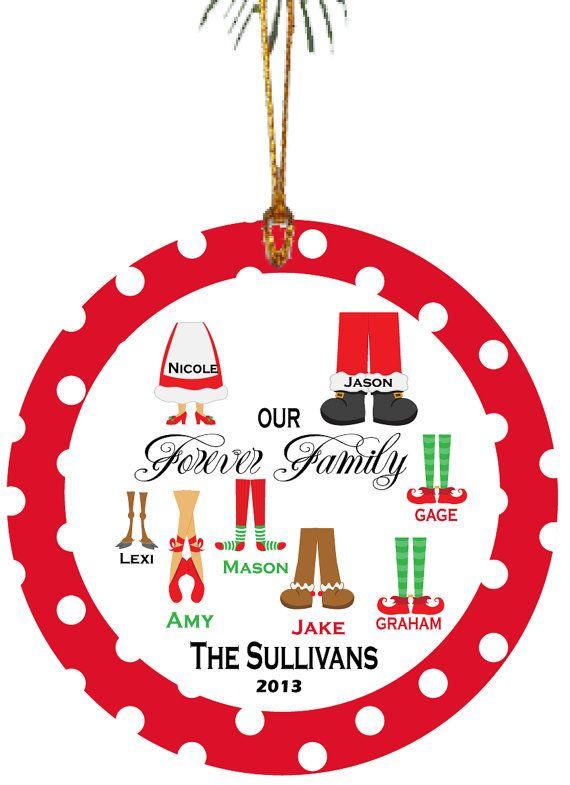Personalized Christmas Ornament Adoption Ornament Forever Family with  Christmas Feet - Personalized Christmas Ornament Adoption Ornament Forever Family
