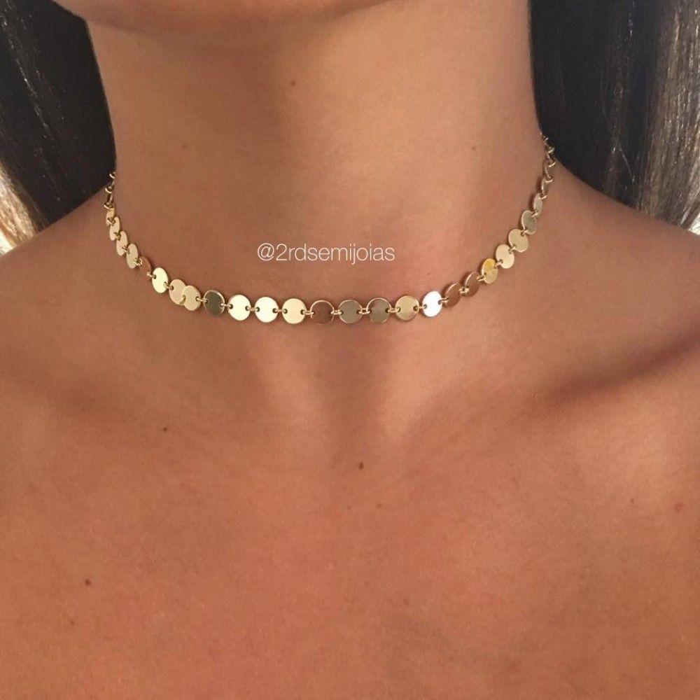 00e4527ae9ed1 Choker Medalhas Dourado   WISH LIST em 2019   Pinterest   Wish e Jewelry