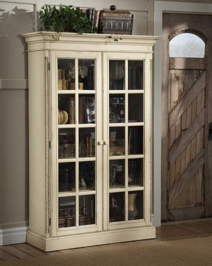Hillsdale Wilshire Large Library Cabinet - Antique White Price: $1,149.00 - Hillsdale Wilshire Large Library Cabinet - Antique White Price