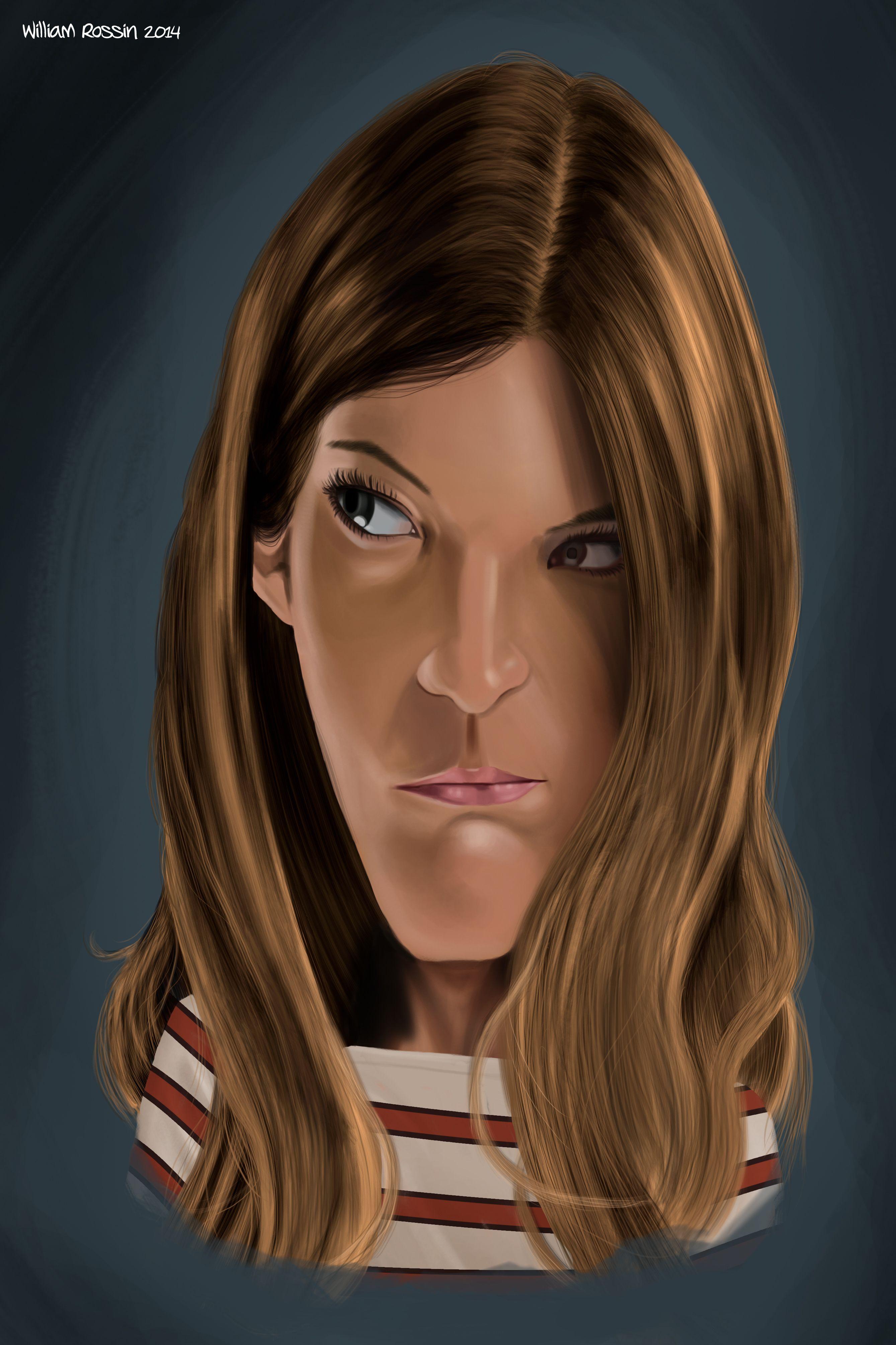 Debra Morgan Digital Painted Caricature Of The Character