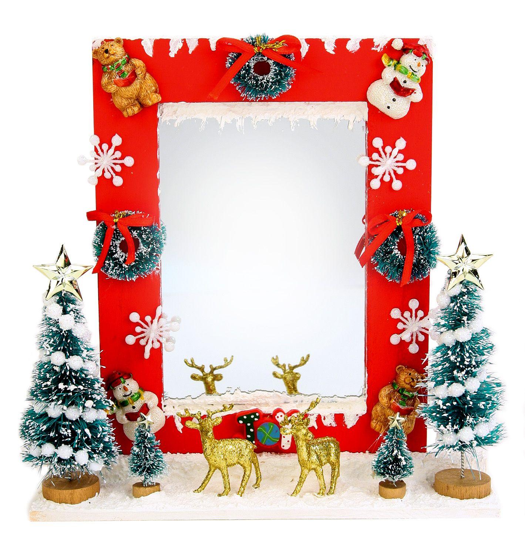 Nicole Crafts Christmas Mirror Frame